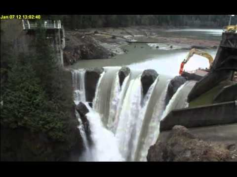 Freeing The Elwha: Glines Canyon Dam Removal, April 2012 Update.mp4