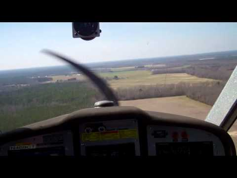 Chesapeake to Wakefield takeoffs and landings in Flight Design ctsw