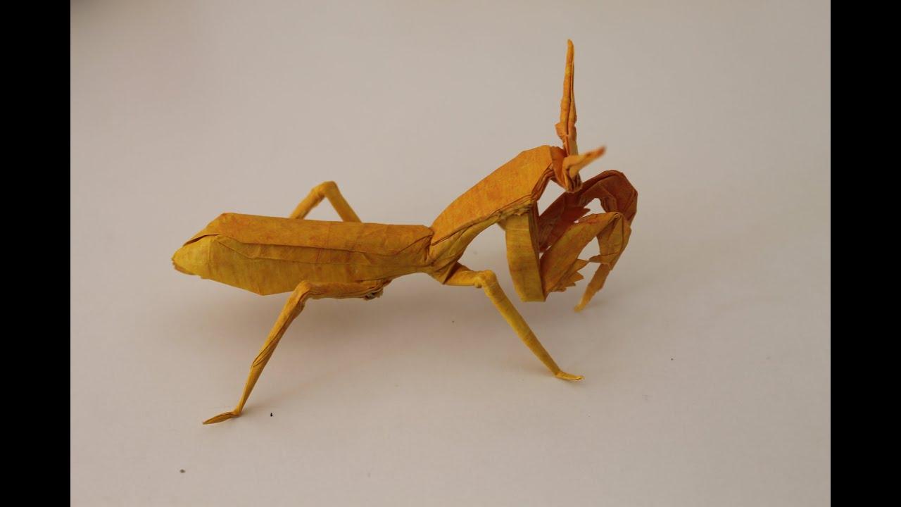 origami praying mantis youtube