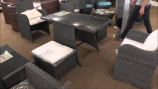 Alnwick Rattan 2 Seat Space-Saving Dining Set