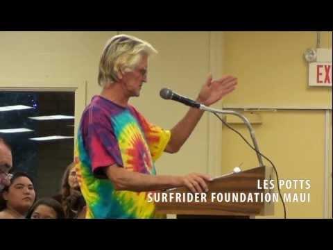 Les Potts, Surfrider Foundation Maui Chapter - West Maui Mayor