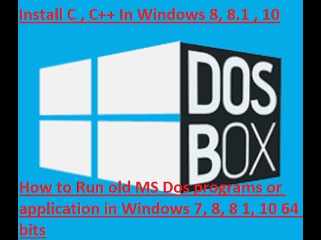 Download How to Run old MS Dos programs or application in Windows 7