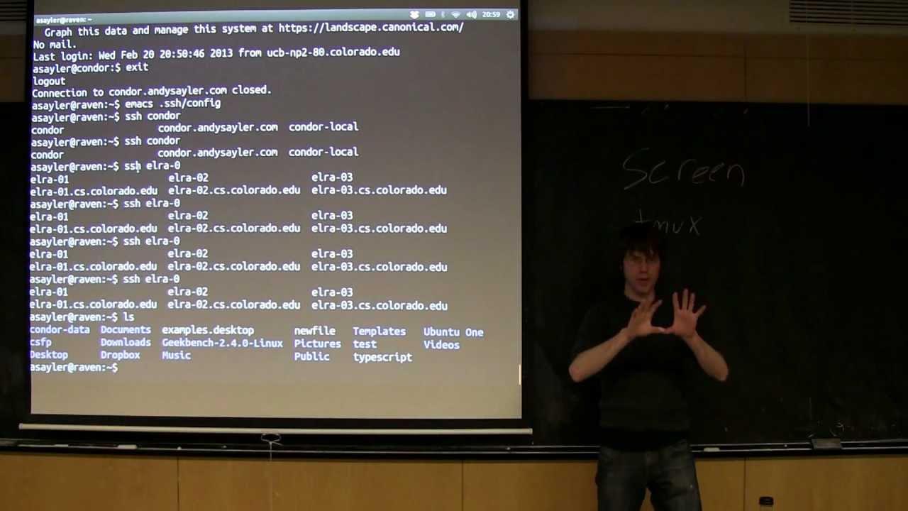 CU - CSFP - 130220 - SSH and Friends - Part 08: GNU screen + tmux