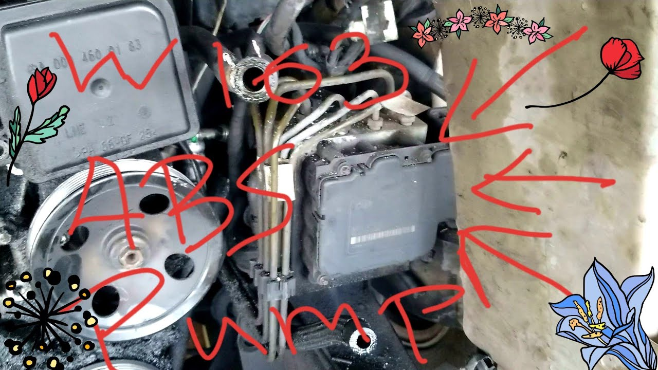 small resolution of mercedes ml w163 removing my abs pump module