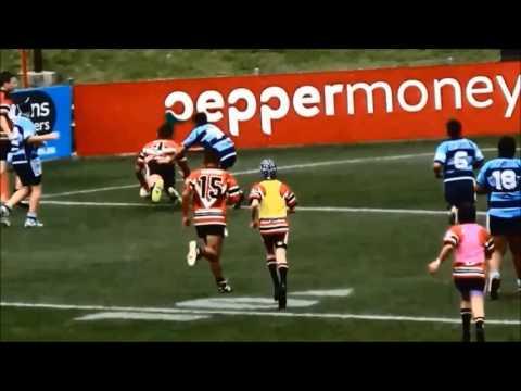 Adam Reynolds (NRL) vs Malakai Houia (Mali) U12 rugby league halfbacks.