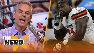 Colin reacts after the Browns missed 4 kicks and lost to the Saints | NFL | THE HERD