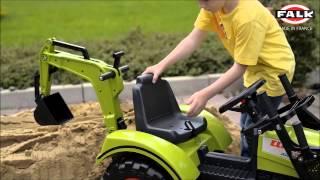 Ciągnik Claas Arion 430 w akcji traktor, koparka model 2070Y FALK