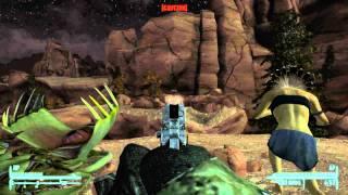 Fallout: New Vegas - She's Embrace (Yao Guai Weapon) and .45 Auto Pistol w/Silencer + HD Slide