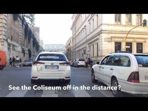 Rome cab ride 2, 11/2015