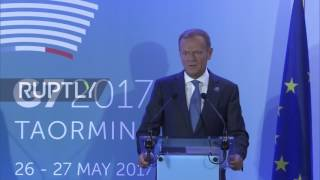 Italy: Impressed by Trump, 'less optimistic' about Putin - Tusk as G7 summit begins