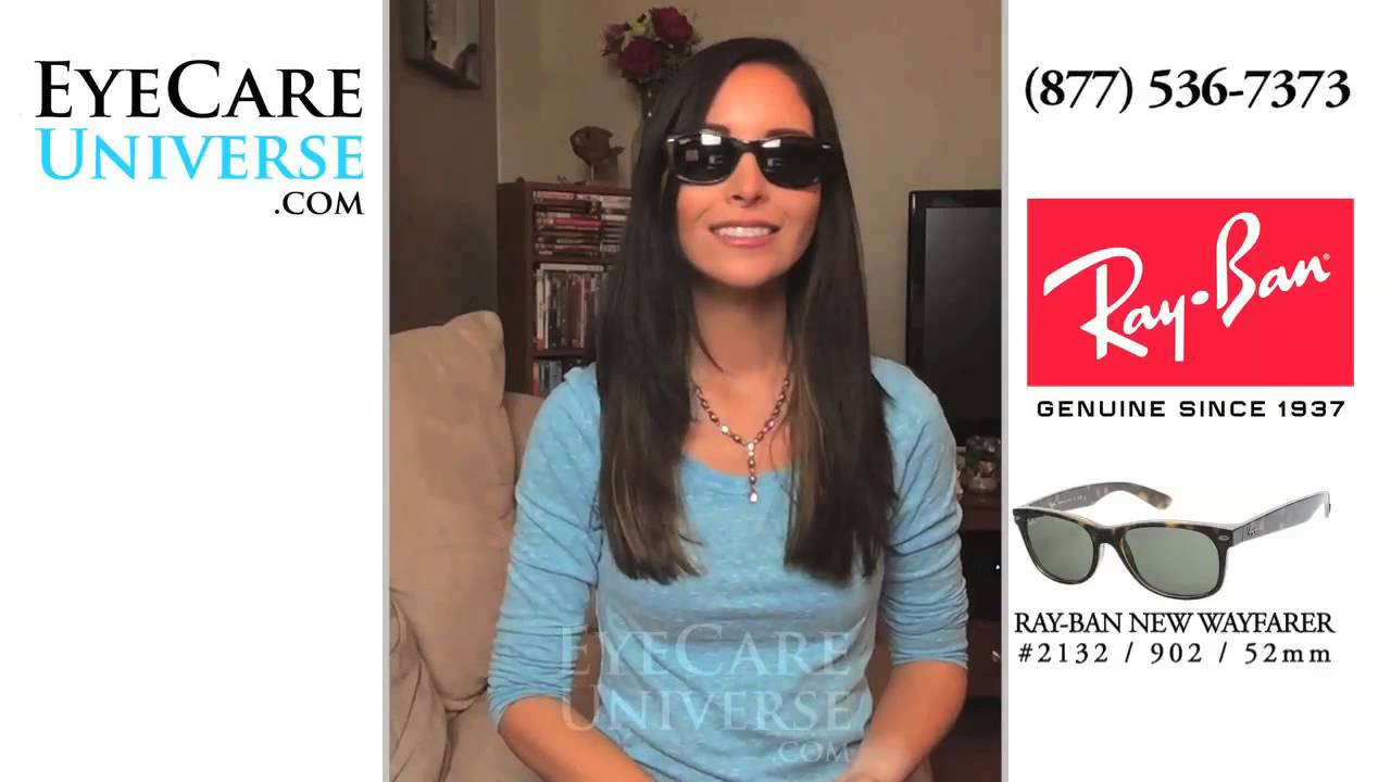 038ccfb32f Ray Ban New Wayfarer Sunglasses RB2132 902 52mm quick view - YouTube
