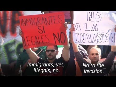 Mexican Nationalists Protest Migrant Caravan Upon It's Arrival in Tijuana! (REACTION)