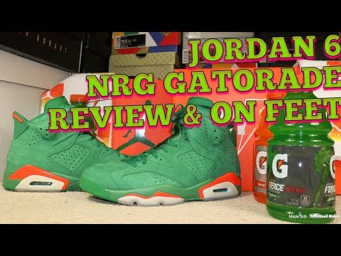 5af428f619370c JORDAN 6 NRG GATORADE GREEN REVIEW  amp  ON FEET!