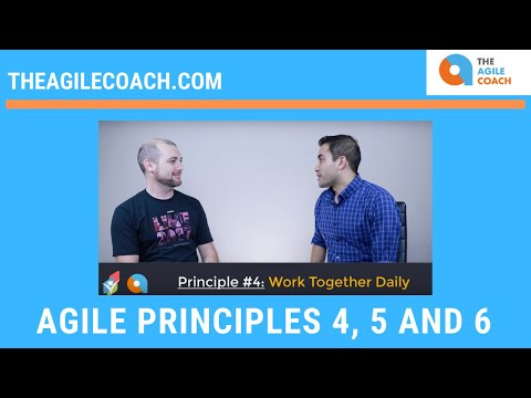 Agile Principles 4, 5 and 6 with examples
