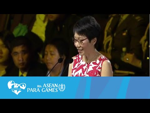 Opening Ceremony Speech by Minister For Culture, Community and Youth | 8th ASEAN Para Games 2015