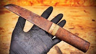reparar un cuchillo japonés viejo con un kimono