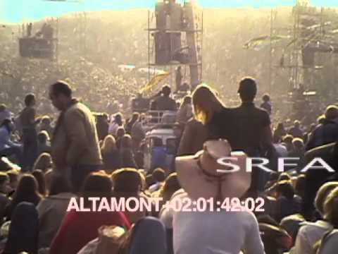 Altamont Concert 1968 hippies stock footage