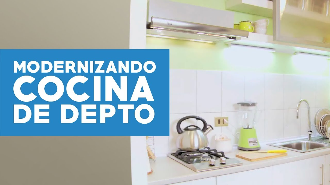 C mo modernizar una cocina de departamento youtube for Cocina departamento