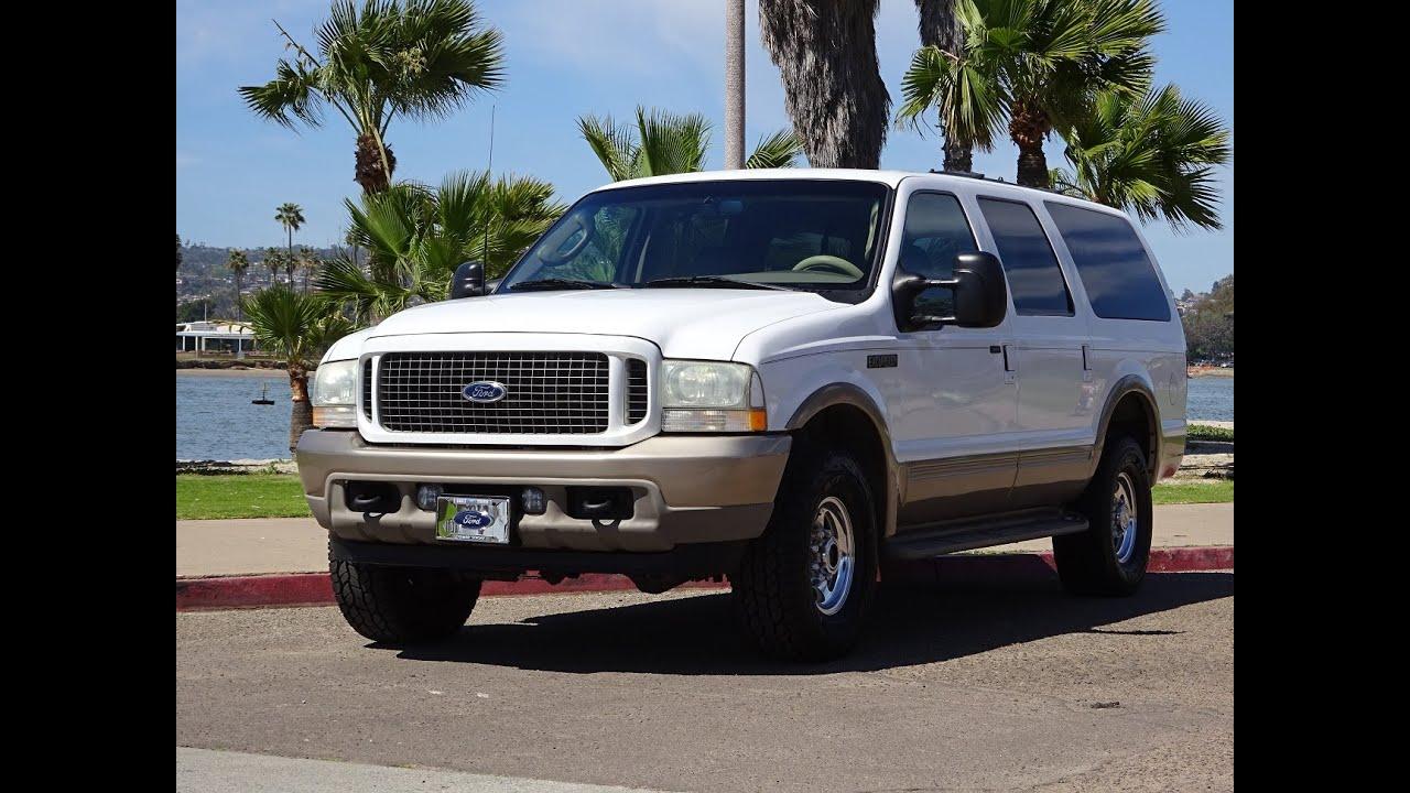 2003 ford excursion eddie bauer 7 3l diesel 4x4 173k for sale full walk around