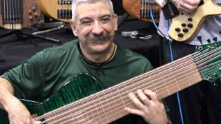 Chris Cardone playing his WTF C3 Prat Bass at Namm 2104