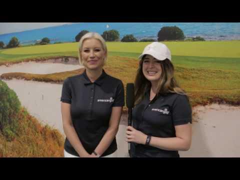 Chloe-Allyn interviews Denise Van Outen at The Golf Show, London