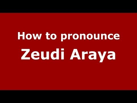 How to pronounce Zeudi Araya (Italian/Italy) - PronounceNames.com