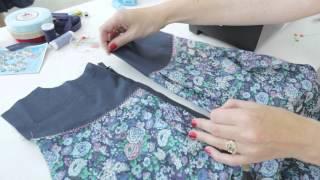 Summer dress sewing tutorial: inserting a zipper (5/7)