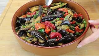 Салат из баклажанов салат из запеченных баклажанов и болгарского перца