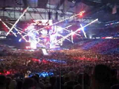 Wrestlemania 23 intro with fireworks and more!