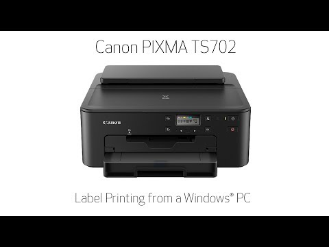 Canon PIXMA TS702 - Printing A Disc Label From Your Windows PC