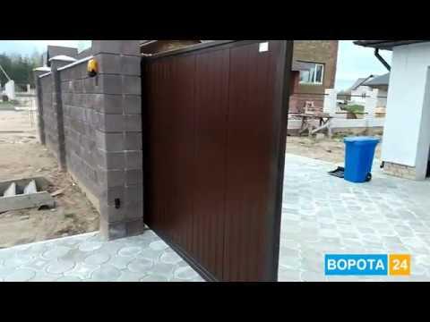 Откатные ворота из сэндвич-панелей Одесса - ВОРОТА 24