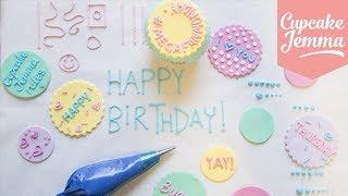 Perfect Piping Masterclass plus Royal Icing Recipe! | Cupcake Jemma