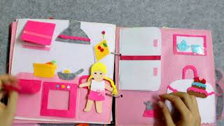 QUIET BOOK DOLL / AT SCHOOL / QUIET BOOK DOCTOR /GHES HANDMADE SACH VAI NI DAY KY NANG CHO BE