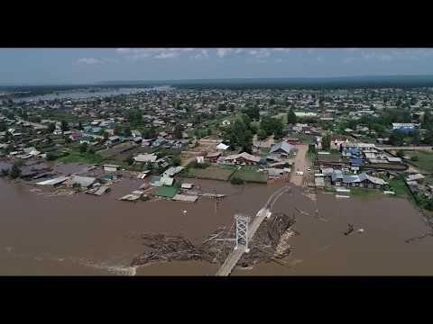 Река Чуна. Наводнение. р.п. Октябрьский. 30.06.19