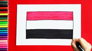 How to draw and color Flag of Yemen
