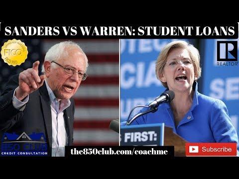 bernie-sanders-&-elizabeth-warren-student-loan-debt-forgiveness-explained--2020-presidential-debate