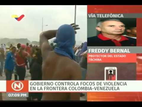 Freddy Bernal: 42 heridos dejaron escaramuzas y disturbios de la oposición en Táchira
