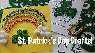St. Patrick's Day Crafts w/your toddler! DIY! Thumbnail