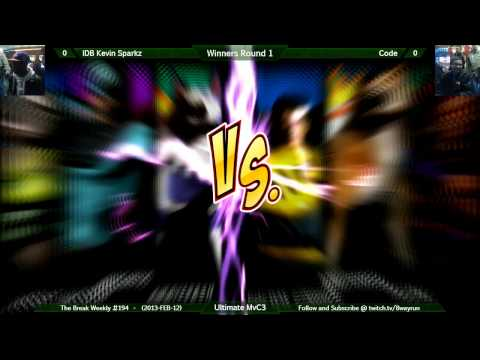 The Break #194   UMvC3 W1   IDB Kevin Sparkz VS Code
