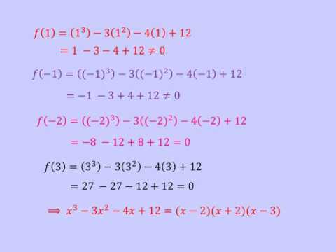 The Factor Theorem & Remainder Theorem