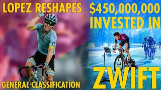 ROGLIC EXTENDS LEAD BUT LOPEZ SHAKES UP GC & ZWIFT RECEIVE $450,000,000 of INVESTMENT