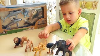Roma learn Animals, Play sets for children with QR card
