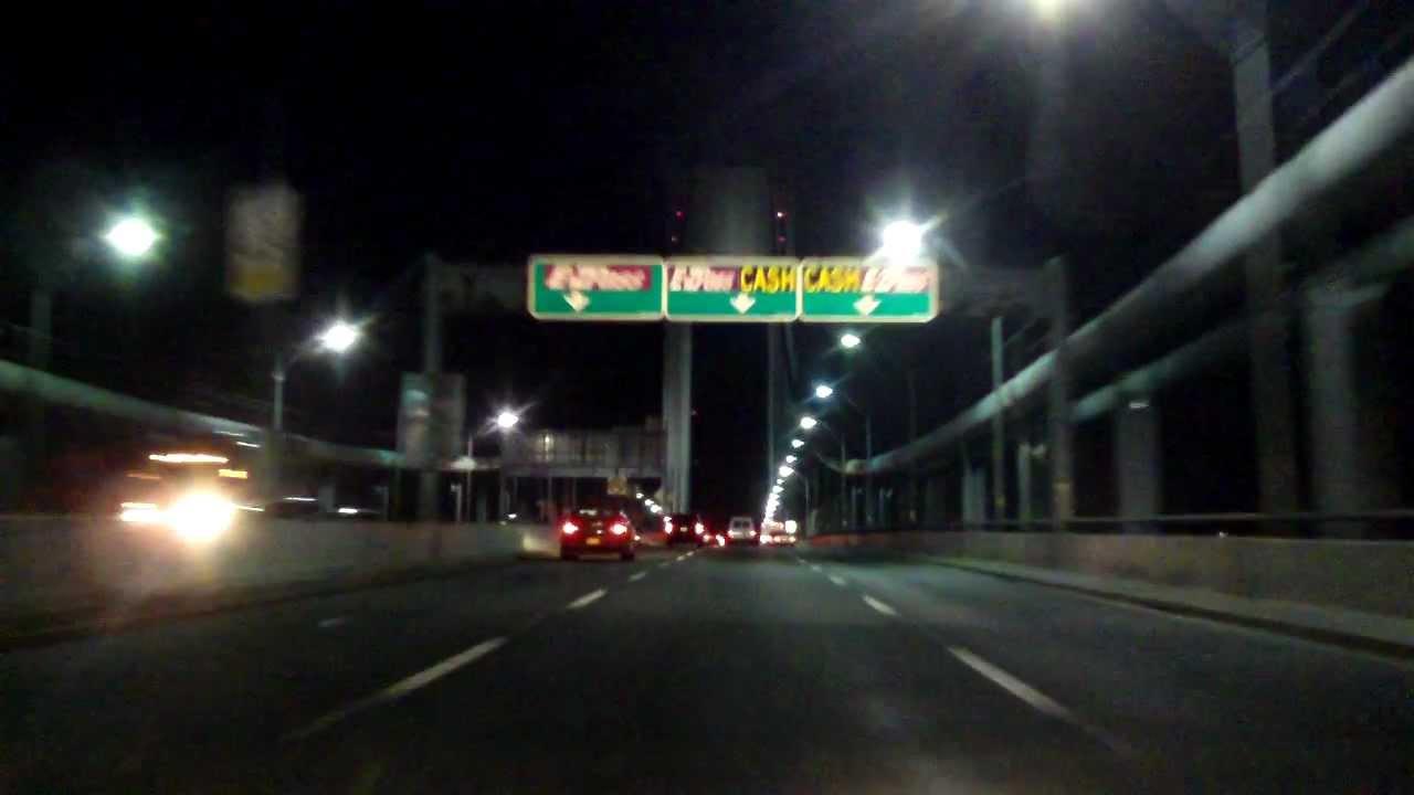 Verrazano Narrows Bridge (Upper Level) westbound (Night ...