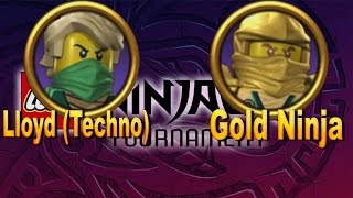 LEGO Ninjago Tournament - Lloyd (Techno) and Gold Ninja gameplay character (ios, android)