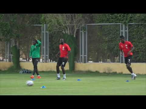 Séances d'entraînement des lions du Sénégal vers la final