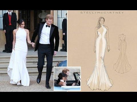 The British designer Stella McCartney gushes over designing Meghan Markle evening gown