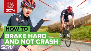 How To Brake Hard On Your Road Bike Without Crashing