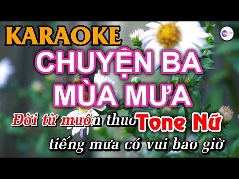 Chuyện Ba Mùa Mưa - KARAOKE [Tone Nữ]   Vici Karaoke