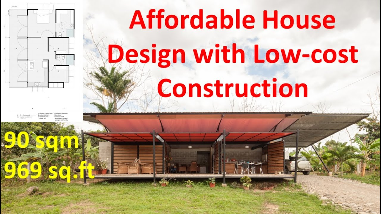 Affordable house design with low cost construction youtube for What is the cost of building a house in india