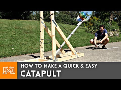 How to make a simple catapult out of wood
